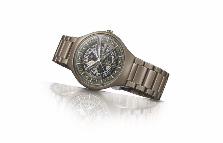RADO,真我超薄系列自動鏤空限量腕表,霧面高科技陶瓷,40毫米,自動上鍊機芯,...