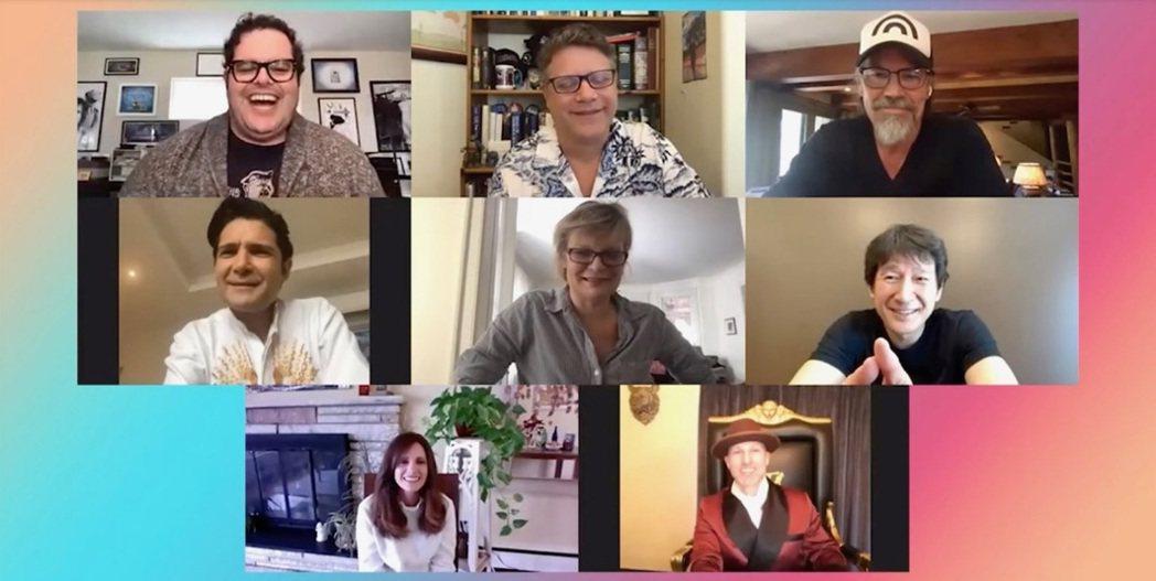 喬許蓋德(左上起)邀請「七寶奇謀」主角史恩奧斯汀、喬許布洛林、柯里費爾曼、瑪莎普...