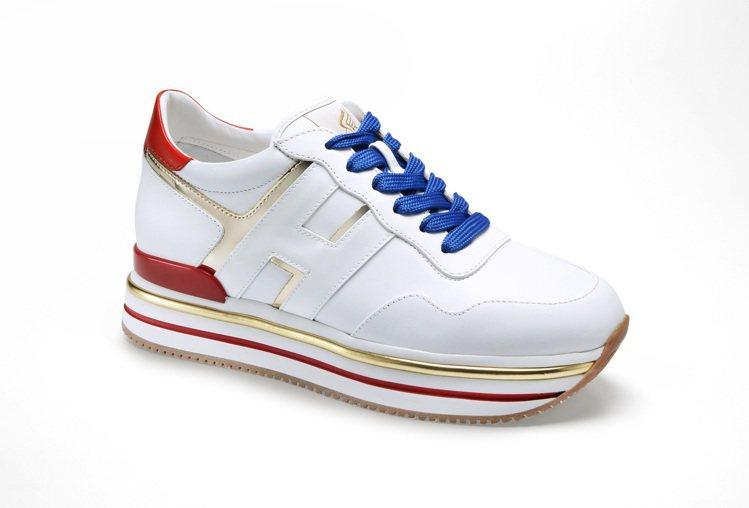 台灣限定HOGAN Midi H222撞色鏡面休閒鞋,20,900元。圖/迪生提...