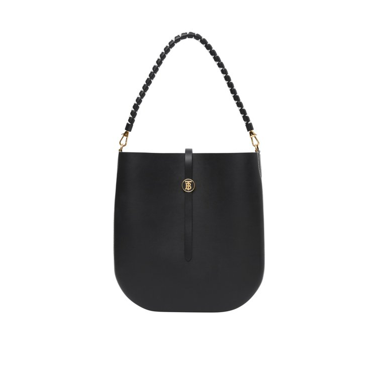 BURBERRY快閃店限定黑色Anne皮革馬鞍包,售價65,000元。圖/BUR...