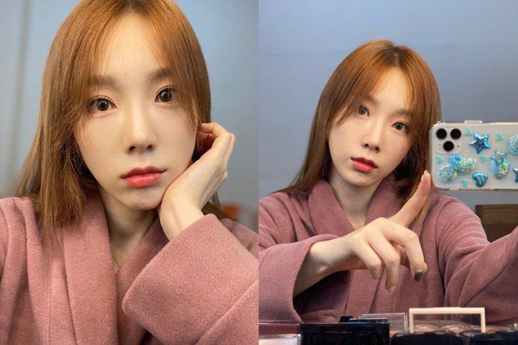 太妍的新髮色,相當顯白。圖/摘自IG