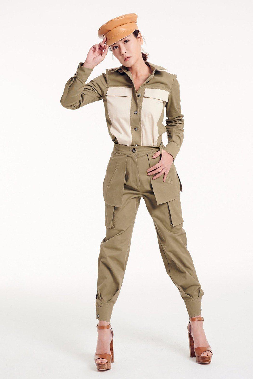 邱琦雯拍攝新款服裝時展露超酷性格及表情。圖/艾迪昇提供