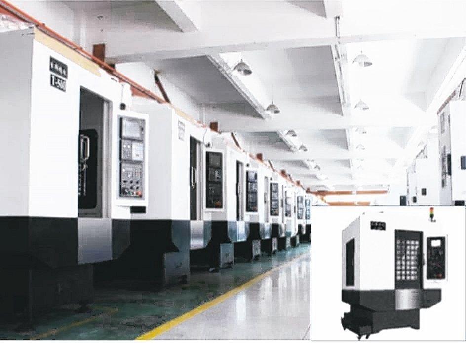 銳特精密科技代理中國台群T-500系列高速鑽銑攻牙機。 銳特精密/提供