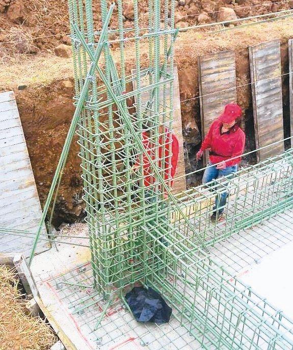 澎湖某自建住宅指名全面使用佑錤金屬熱熔環氧樹脂塗層鋼筋。 佑錤金屬/提供