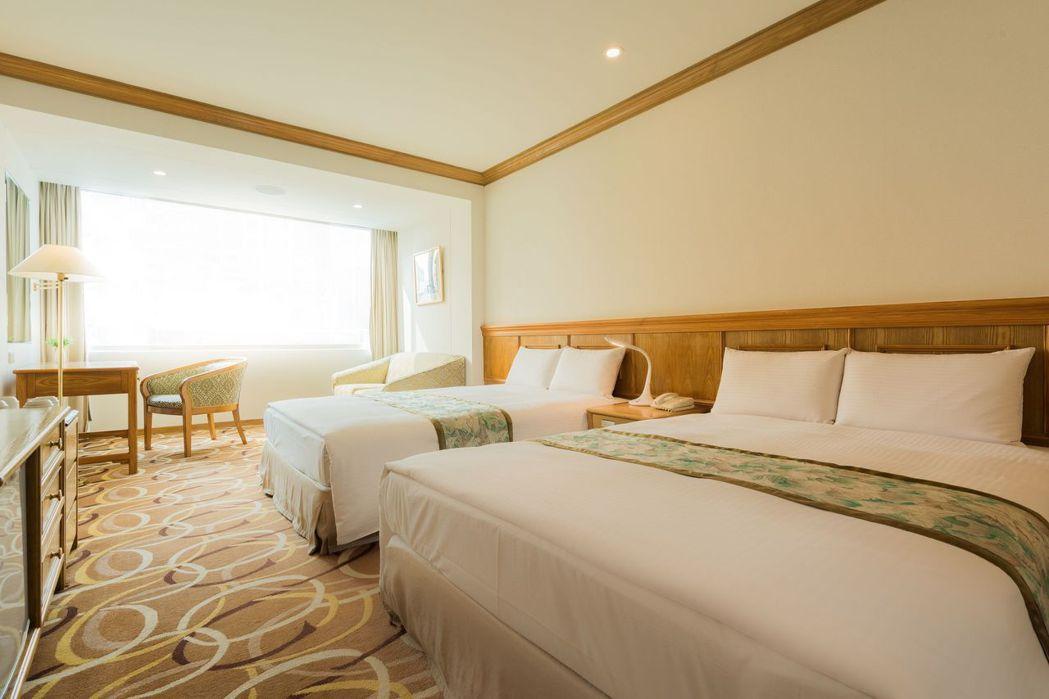 房間整潔度備受好評,每間都有對外窗。  台南大飯店 提供