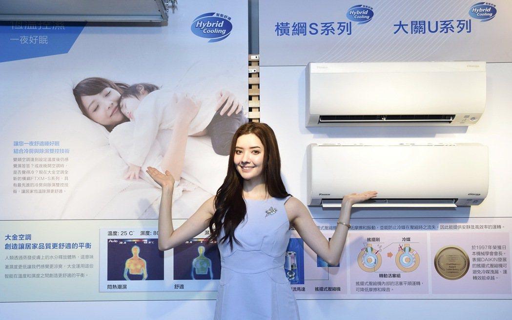 全新大關U系列壁掛用一對一,搭載先進Hybrid Cooling科技,針對台灣夏...