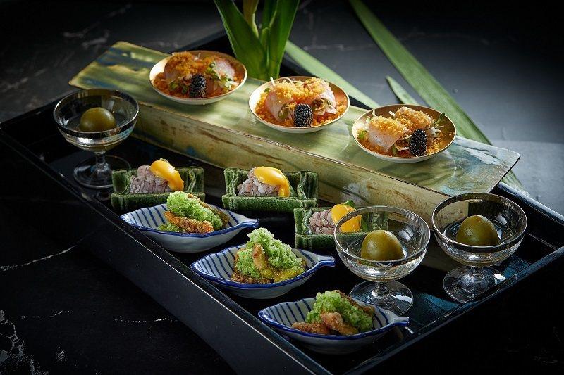 Ukai Kaiseki 廣瀨料理長依每日新鮮食材料理的季節嚴選前菜。 晶英國際...