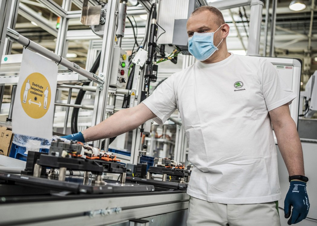 ŠKODA捷克三大廠開始恢復生產作業。 摘自ŠKODA