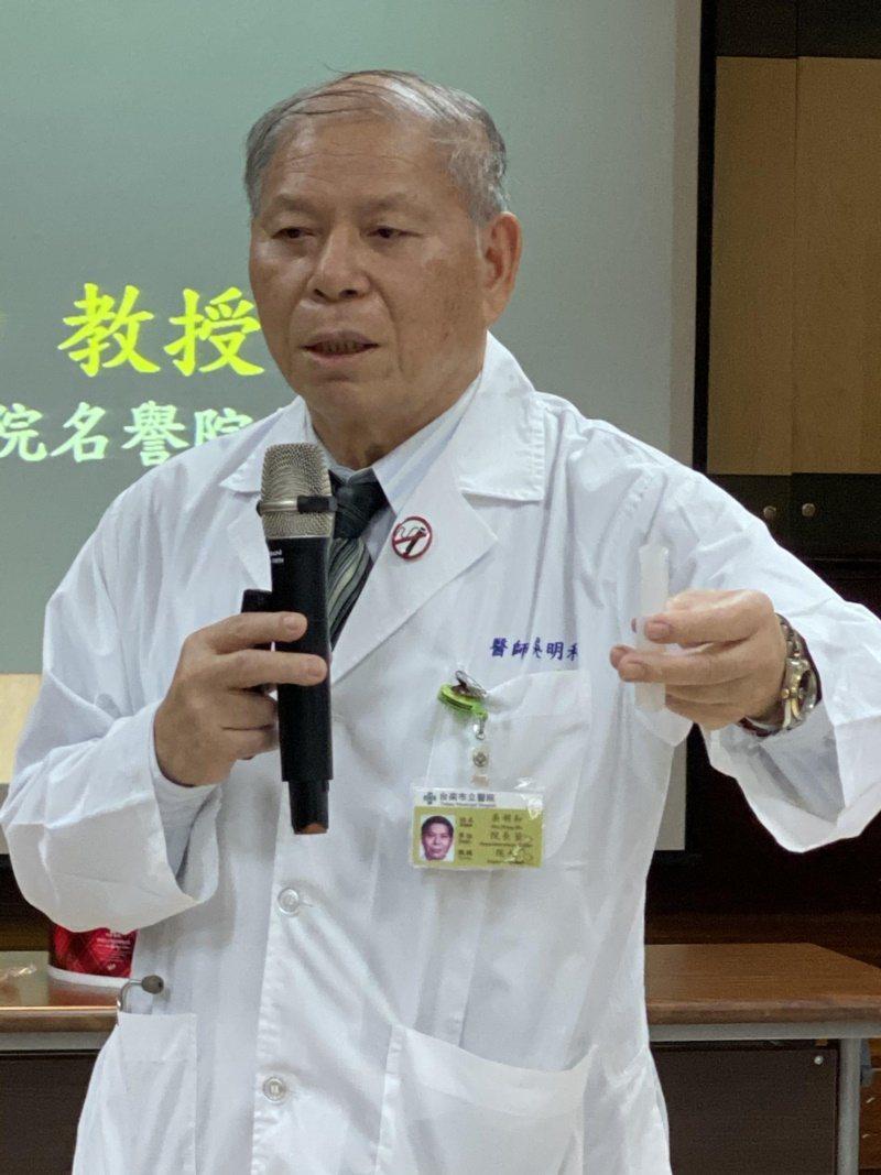 台南市立醫院院長吳明和。 圖/修瑞瑩 攝影