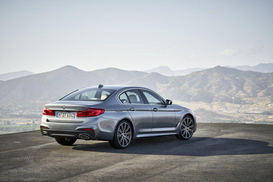 現行第七代BMW G30 5 Series Sedan。 摘自BMW