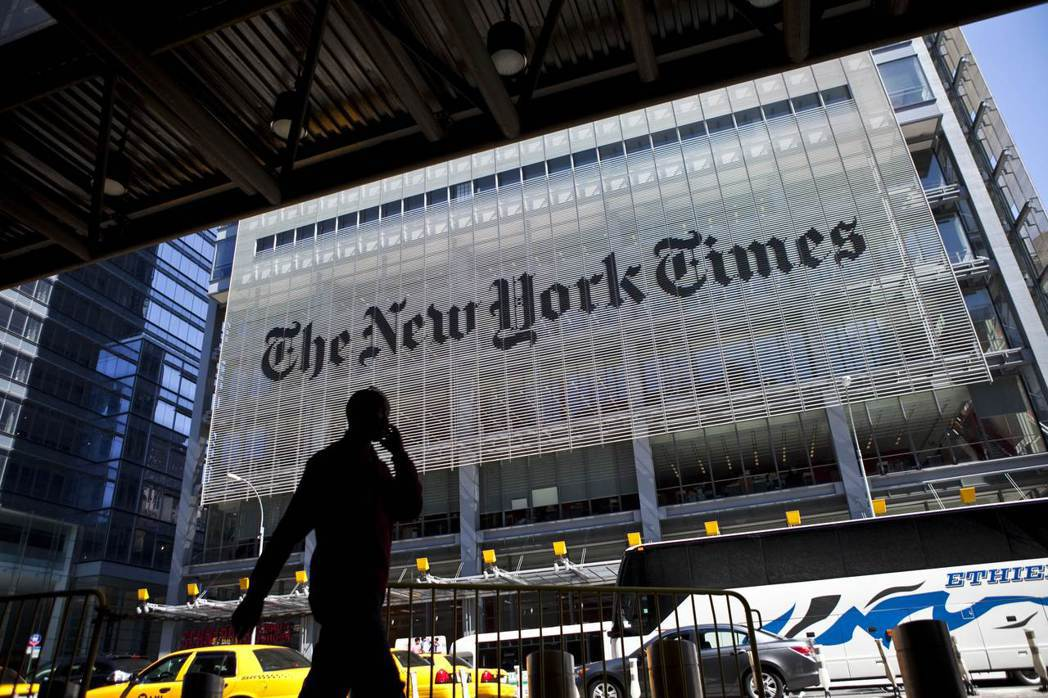位在曼哈頓的紐約時報大廈。 圖/法新社