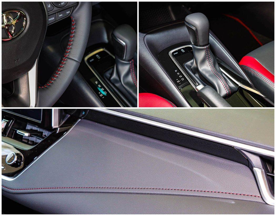 全車使用熱血的紅色縫線,讓車室附有強烈的戰鬥氛圍。 圖/和泰汽車提供