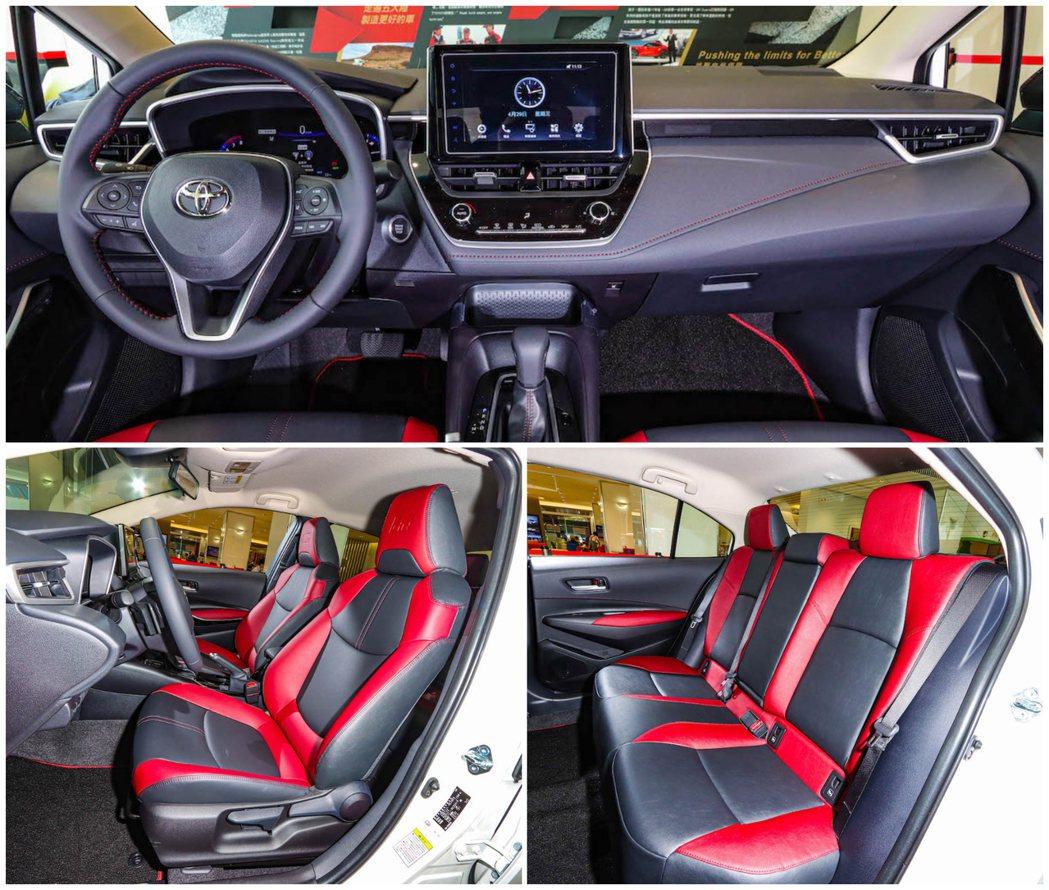 內裝採熱血的紅黑配色,凸顯車室運動風格。 圖/和泰汽車提供