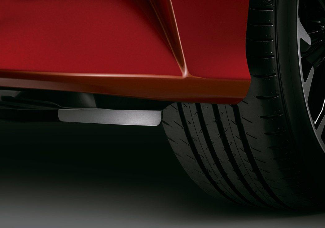 GR SPORT專屬開發的四輪空力導流片,可降低風阻並維持高速行駛穩定性。 圖/...