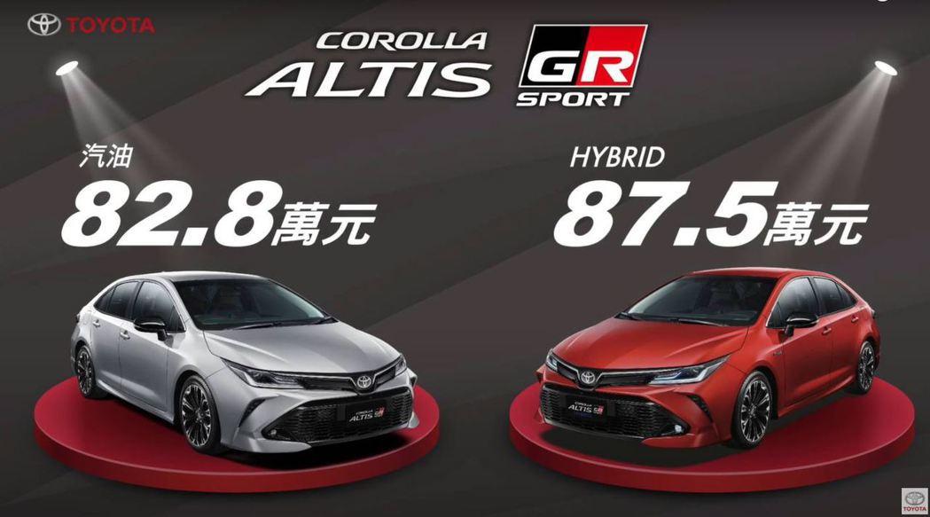 汽油車型建議售價為82.8萬元,HYBRID車型建議售價則為87.5萬元。 圖/...