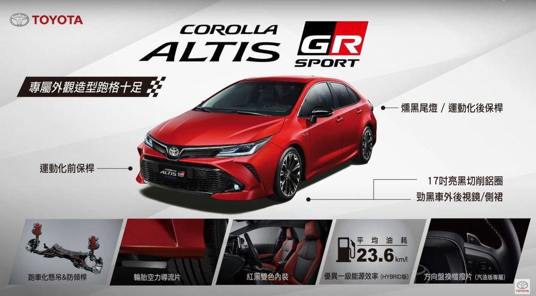 Corolla Altis GR Sport 在外觀內裝甚至底盤做了許多優化。 ...