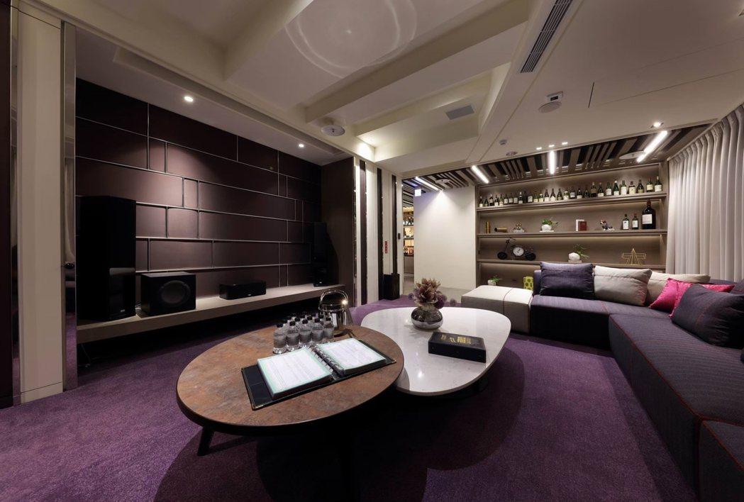 貴賓視聽室。圖片提供/京城建設