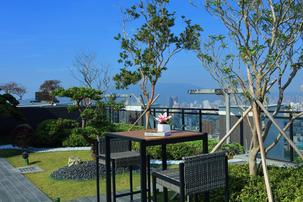 凌空29層的霸氣360度視野,獨享高雄的清晨與夜空。圖片提供/京城建設