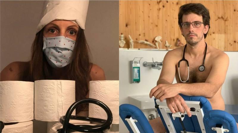 德國有醫生發起名為「赤裸裸不安」(Blanke Bedenken)的行動,透過拍攝裸照,喚起外界關注裝備和物資不足的問題。