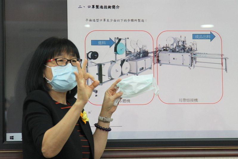 智慧局長洪淑敏說,智慧局盤點口罩製造設備及技術的全球專利佈局概況,避免國家隊在銷售過程中踩到地雷。(photo by 祝潤霖/台灣醒報)