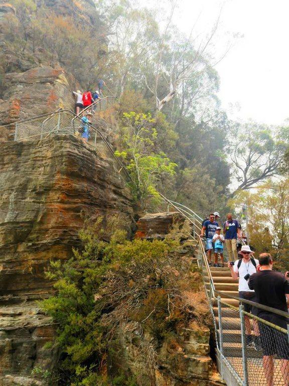 藍山(Blue Mountains) 的大階梯Giant Stairway