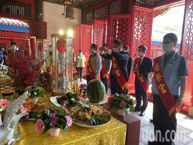 明延平王鄭成功開台359周年中樞祭典,上午在台南延平郡王祠舉辦。記者修瑞瑩/攝影
