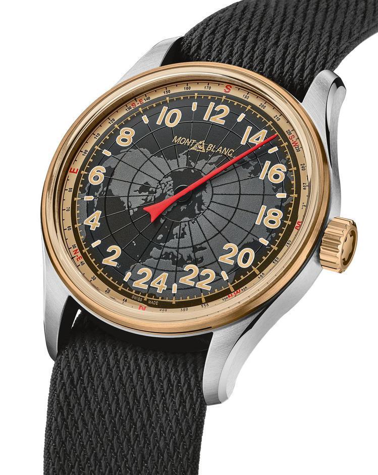 Montblanc,1858系列24H自動腕表。單指針的形式並非最新,但單格時間...