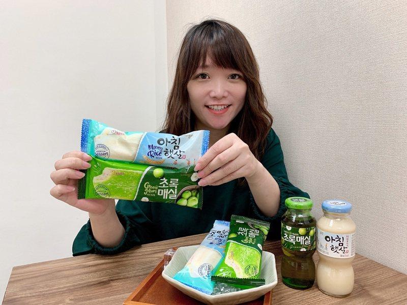 韓國老字號人氣米漿、青梅飲變身冰棒,7-ELEVEN將於5月4日起獨家販售。圖/7-ELEVEN提供