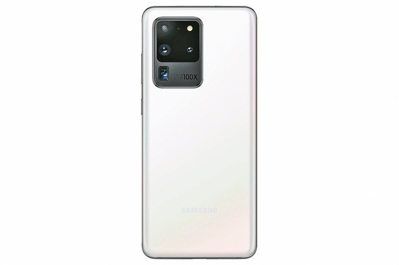 Samsung Galaxy S20 Ultra「晴空白」預計5月8日起陸續於三星智慧館、三星商城、各大電信及經銷通路陸續上市,建議售價43,900元。 圖/三星提供