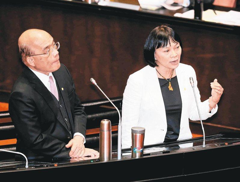 行政院決定將促轉會代理主委楊翠(右)扶正。 圖/聯合報系資料照片