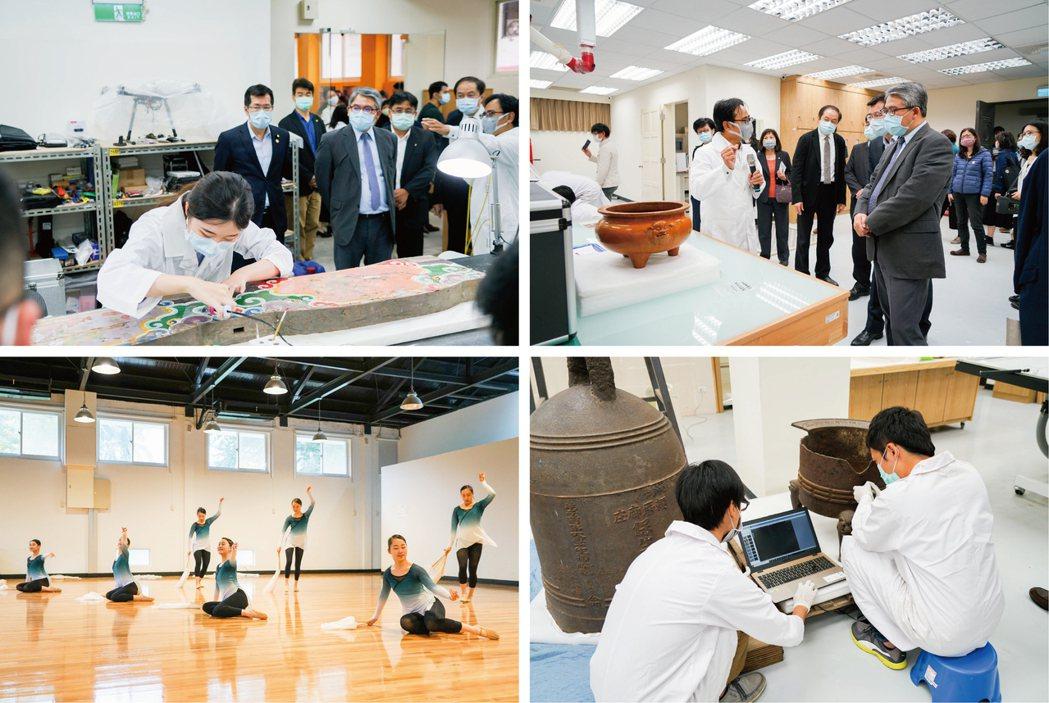 臺藝大在藝術創新與教育上的表現卓越,讓貴賓們眼睛為之一亮。臺灣藝術大學/提供