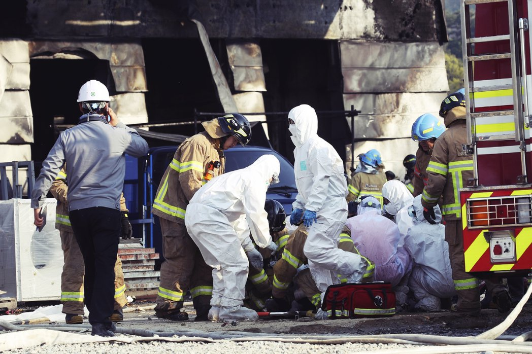 南韓京畿道利川市,29日下午發生重大死傷的工安慘案。 圖/美聯社