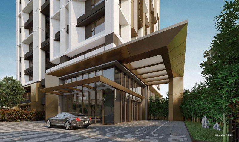 「鐫画」是央北首座邀請國外建築師設計外觀的新案,樹立美學地標典範。 圖/大陸建設...