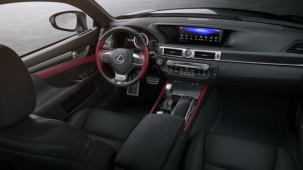 Lexus GS Black Line Special Edition內裝鋪陳則...