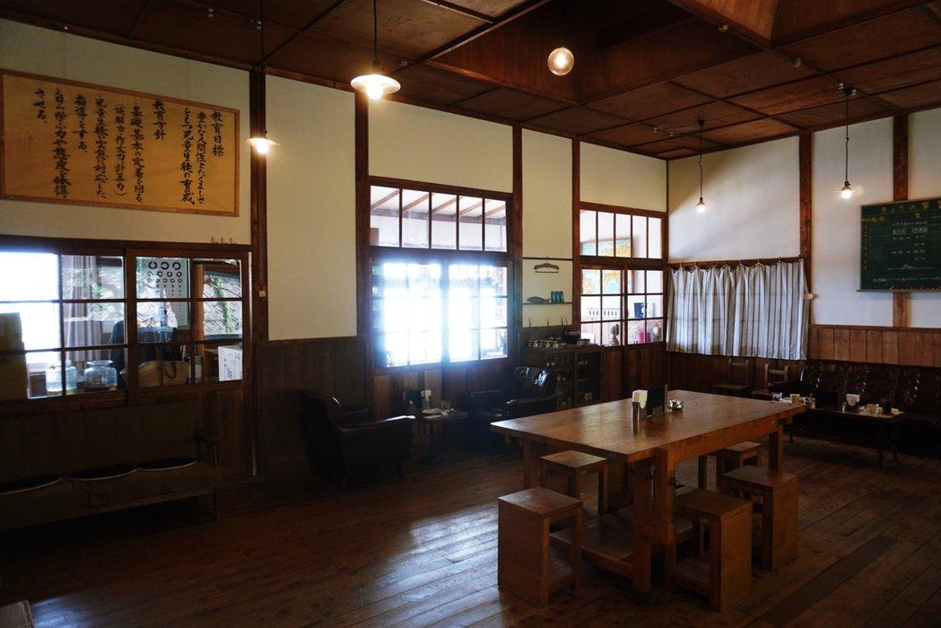 島上並沒有食堂,原來是職員辦公室的空間現在則成了咖啡廳,除了提供當天來回的觀光客...