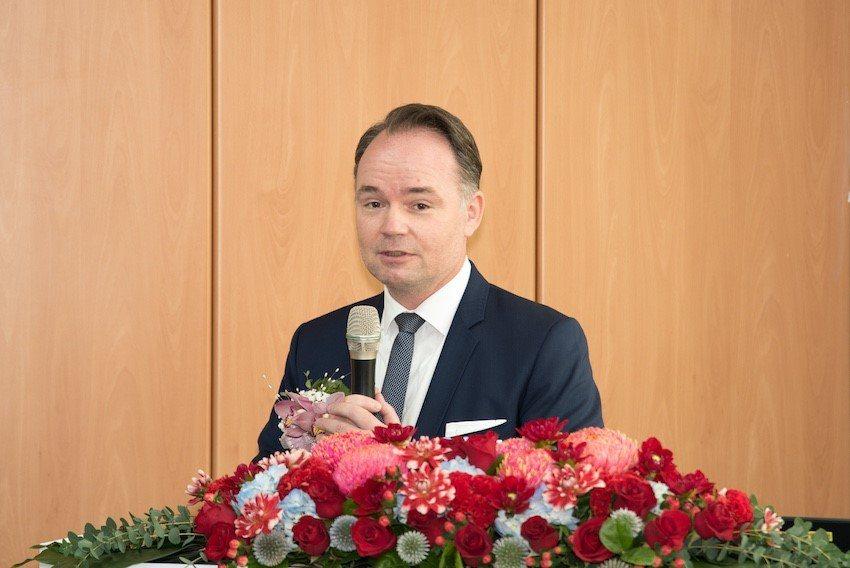 台灣西門子數位工業總經理席德塱 (Tino Hildebrand)。 西門子/提...