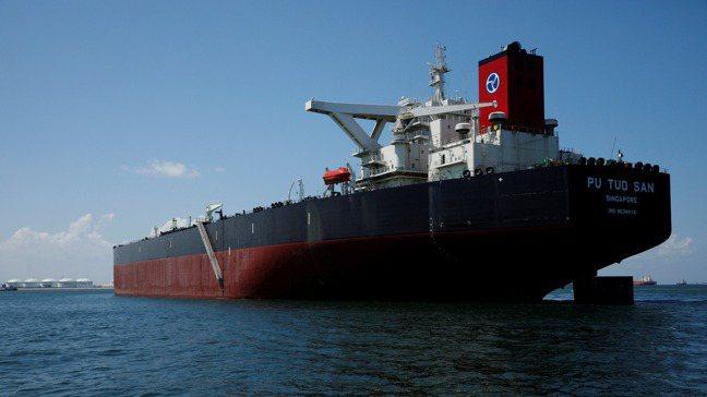 新加坡石油交易巨頭興隆(Hin Leong)的油輪。 路透社