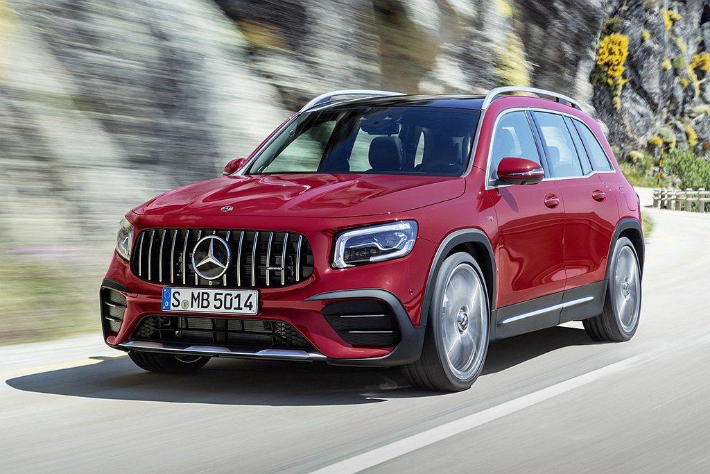 賓士GLB建議售價197萬台幣起,性能車型Mercedes-AMG GLB 35...