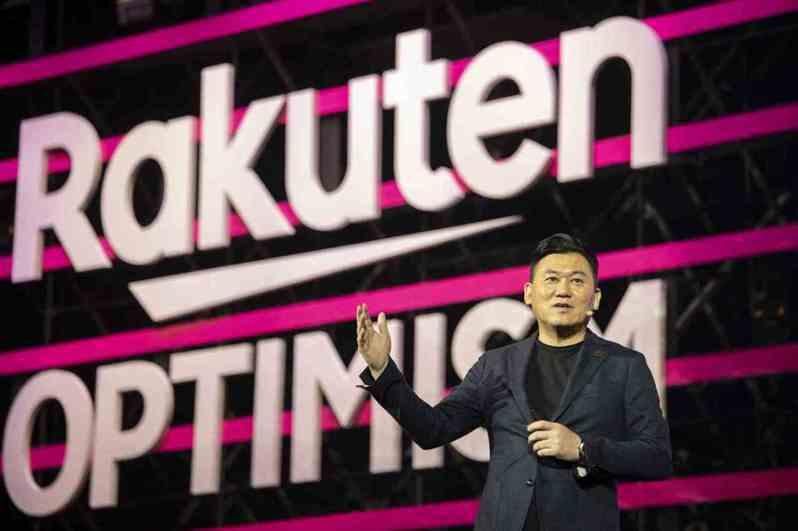 日本第5大富豪、樂天會長三木谷浩史勇於創新,3月在日本石破天驚拋出5G上網吃到飽,引起市場騷動。 (Getty Images)