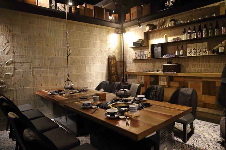 以私廚概念打造的胡同裏的寬巷子,僅可容納10名顧客。記者陳睿中/攝影