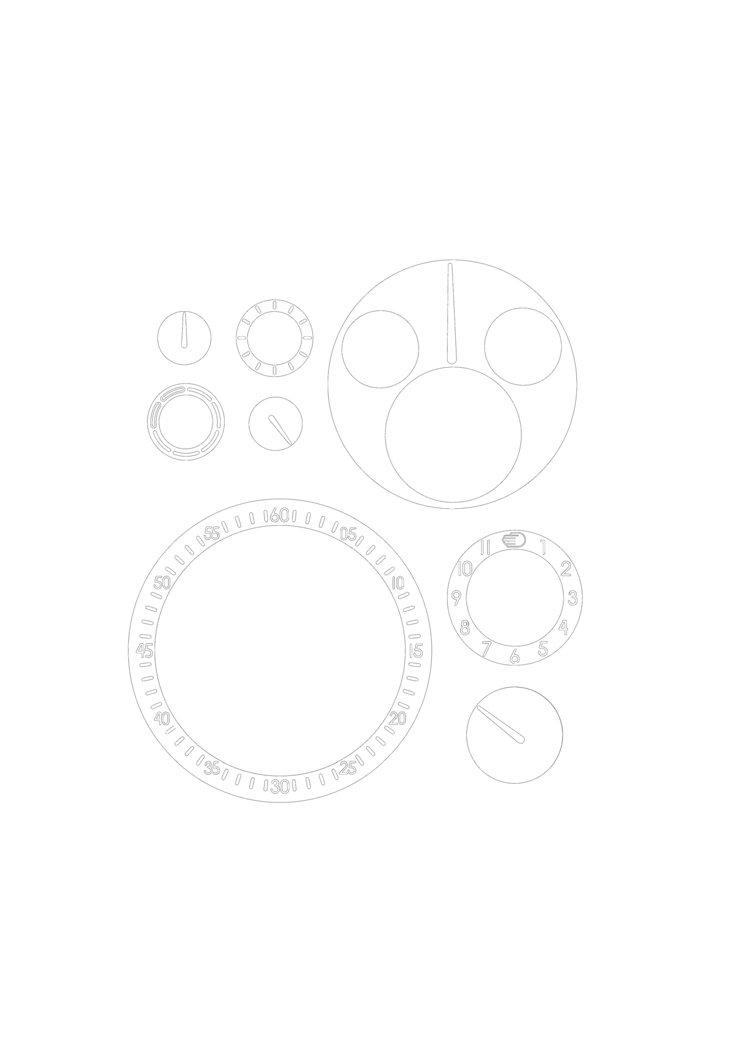 Ressence Type 1 Slim零件著色圖。圖/蘇富比提供