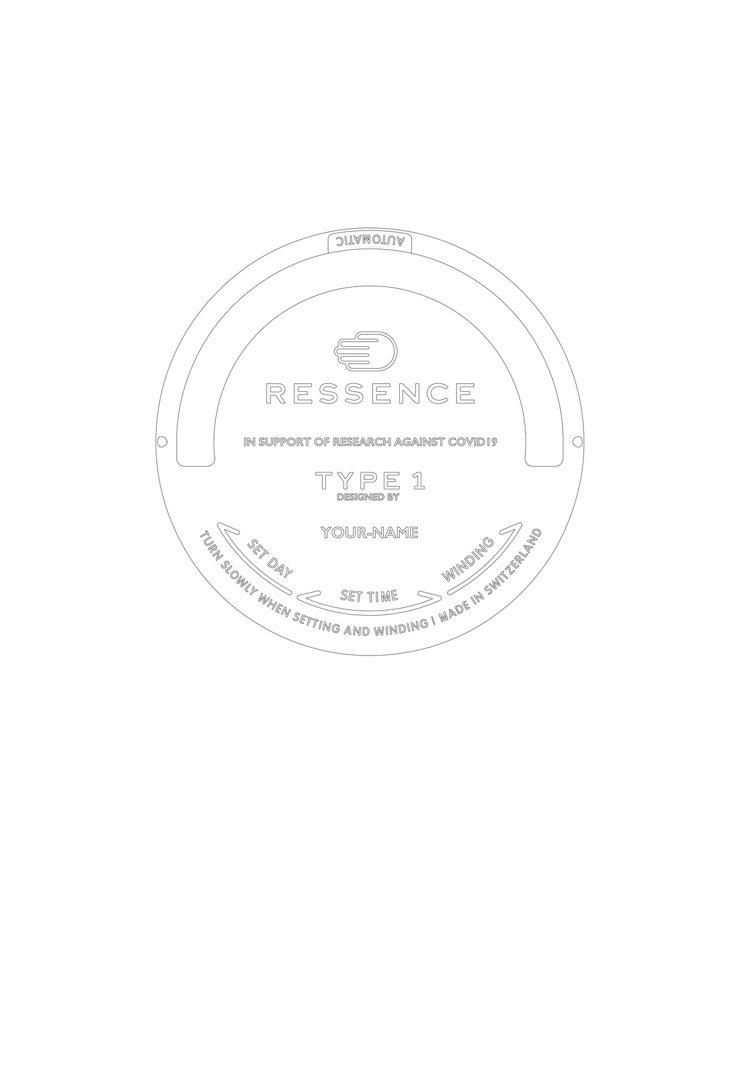 Ressence Type 1 Slim背面著色圖。圖/蘇富比提供