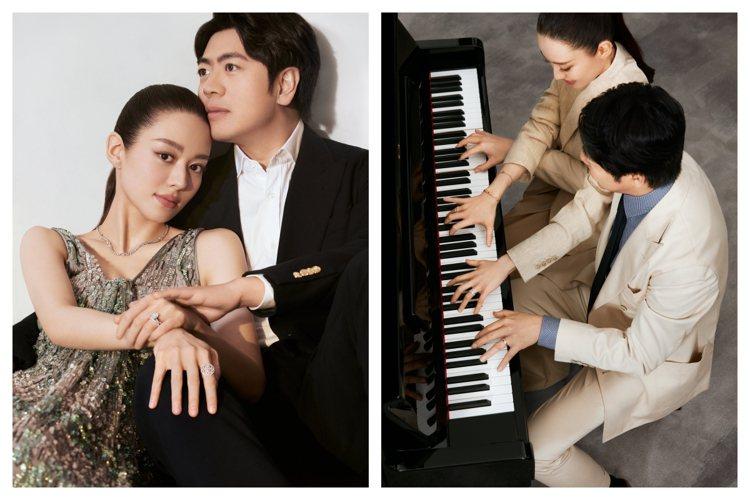 鋼琴藝術家郎朗與吉娜愛麗絲成為DE BEERS品牌摯友。圖/DE BEERS提供