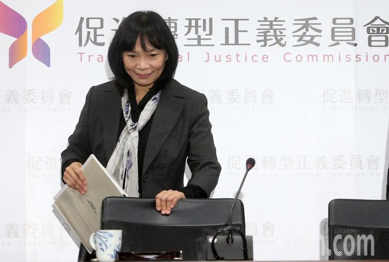 促轉會代理主委楊翠被提名為主委人選。本報資料照片