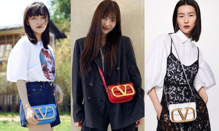 VALENTINO今年春夏全新推出了SuperVee手袋系列,用巨型的V標誌作為...