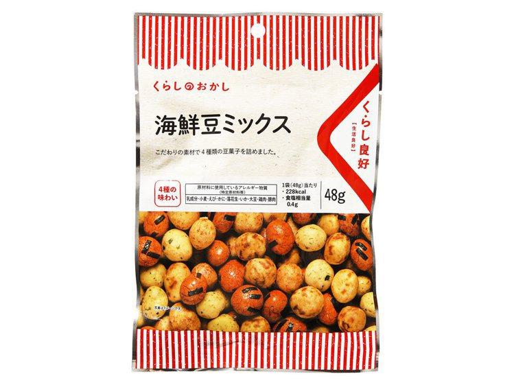 全聯獨家日本零食「生活良好」海鮮豆菓子39元。圖/全聯福利中心提供