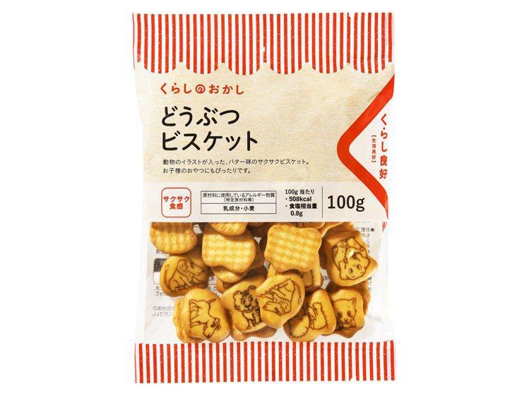 全聯獨家日本零食「生活良好」動物餅乾39元。圖/全聯福利中心提供