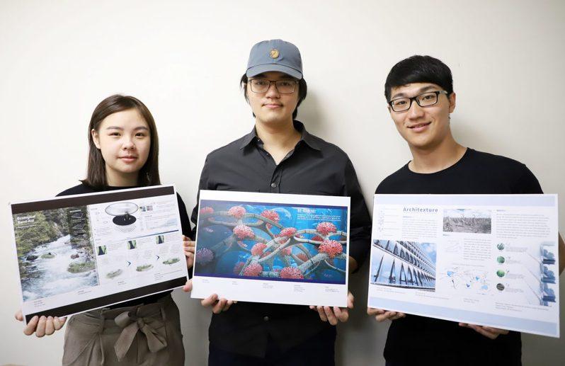 台科大建築系三組學生作品獲德國iF設計新秀獎。圖/台科大提供