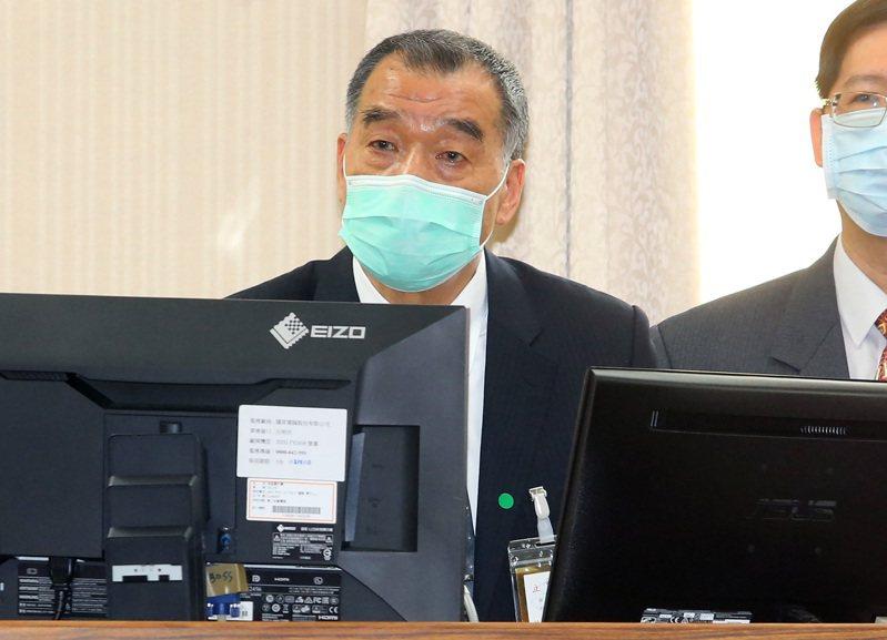 國安局長邱國正昨指出,新冠肺炎病毒「不可諱言是在中國大陸發生」。記者胡經周/攝影