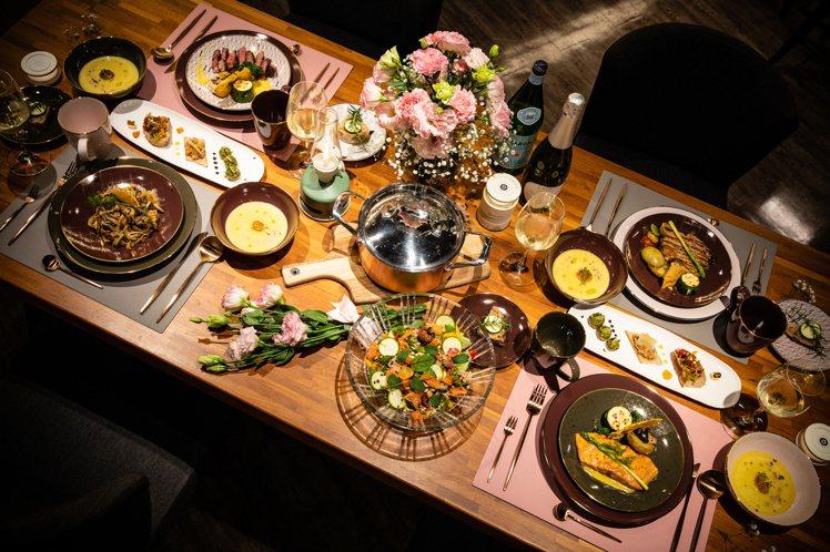HOLA母親節推出「私廚到府」服務,從西式饗宴到餐桌佈置都包辦。圖/HOLA提供